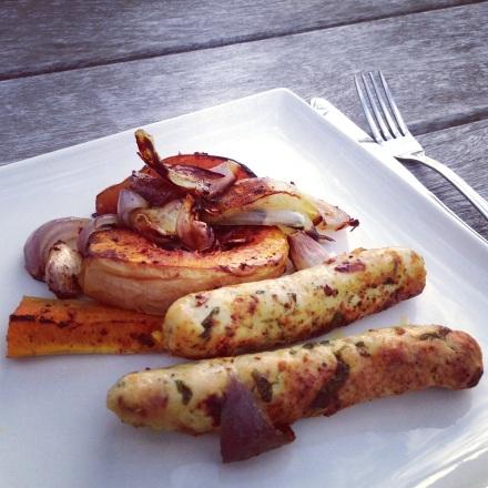 Homemade Chicken Basil Sausages