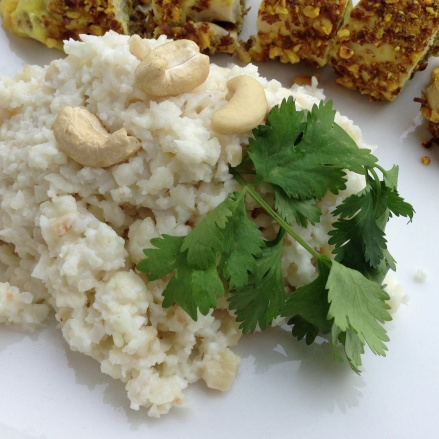 creamy cashewnut cauliflower rice